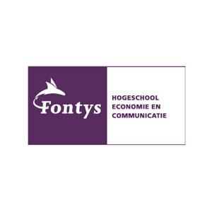 Logo Fontys Economie en Communicatie blauw gemaakt